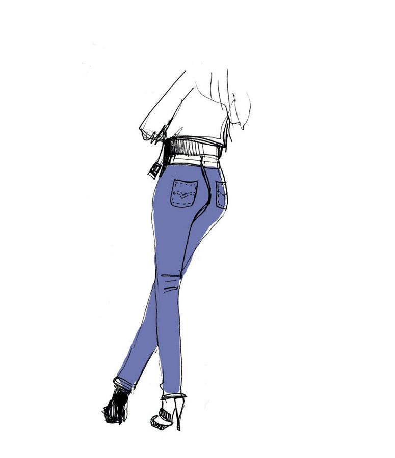 Jeansy z wyższym stanem to dobry wybór /materiały prasowe