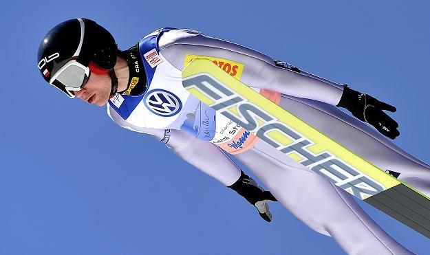 Jeden skok w Planicy dał Stochowi zwycięstwo w niedzielnym konkursie /AFP