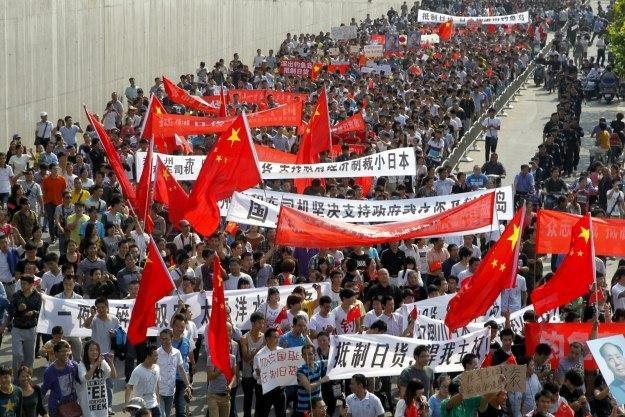 Jeden z antyjapońskich protestów /PAP/EPA