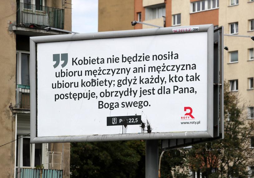 Jeden z billboardów w Warszawie /Piotr Molecki /East News