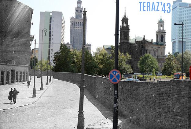 Jeden z kolaży opublikowanych w książce. Plac Grzybowski, widok od strony północnej /Teraz'43/Marcin Dziedzic /