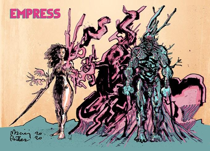 """Jeden z materiałów graficznych z komiksu """"Cesarzowa"""" /materiały prasowe"""