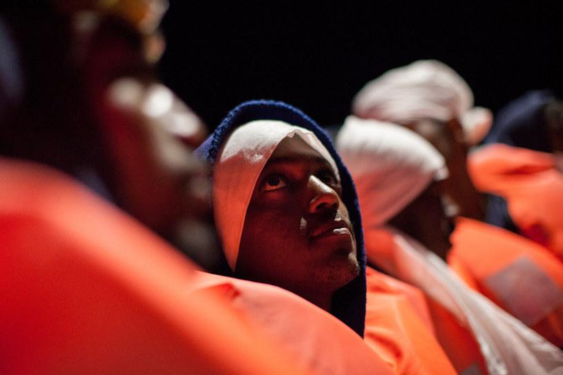 Jeden z migrantów próbujących przedostać się do Hiszpanii /AFP