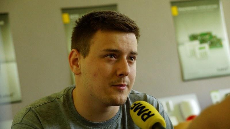 Jeden z młodych wynalazców Joachim Jakubas /Michał Dukaczewski /RMF FM