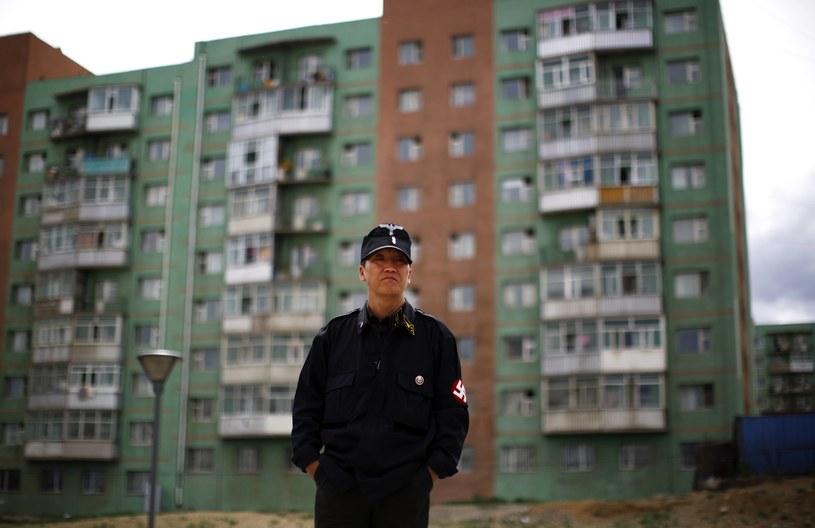 Jeden z mongolskich neonazistów /Agencja FORUM