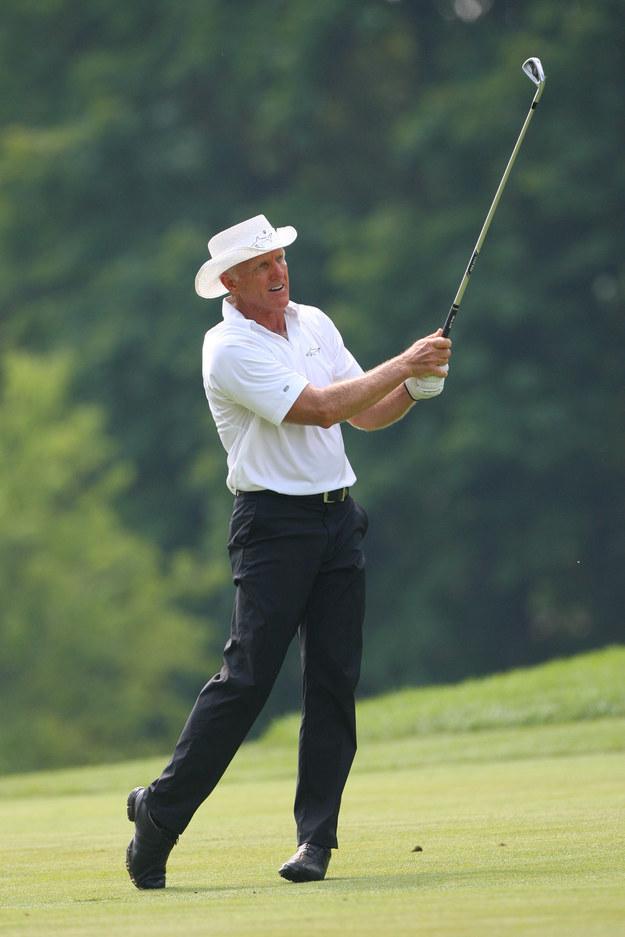 Jeden z najlepszych golfistów w historii 59-letni Australijczyk Greg Norman /AFP