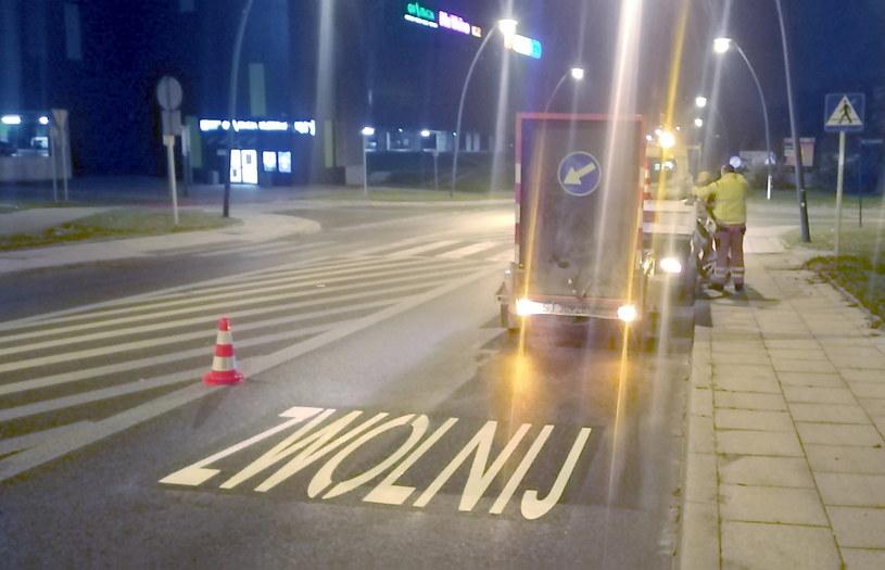 Jeden z napisów w Jaworzenia / Fot: Miejski Zarząd Dróg i Mostów /