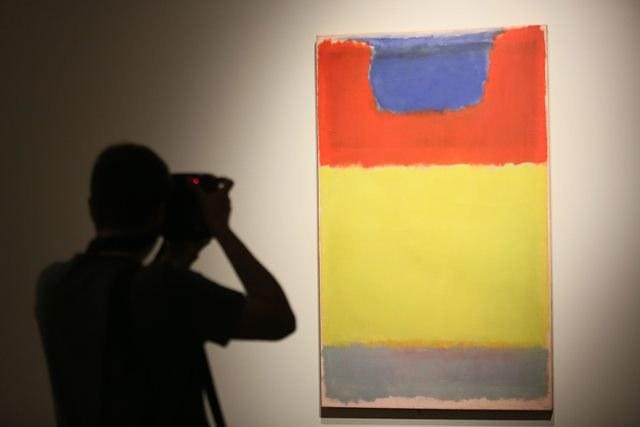 Jeden z obrazów Marka Rothko /Leszek Szymański /PAP