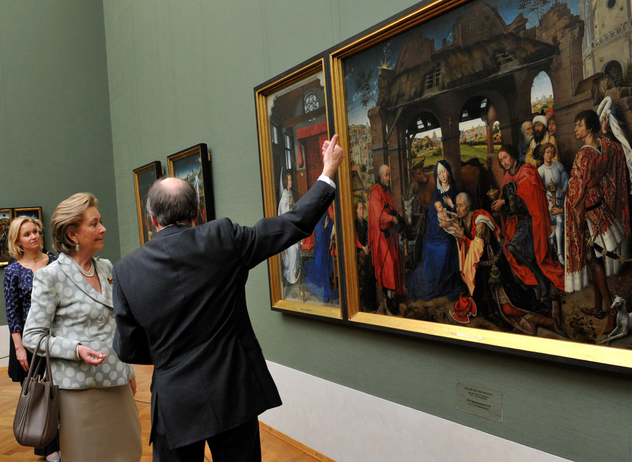 Jeden z obrazów Rogiera van der Weydena /FRANK LEONHARDT /PAP/EPA