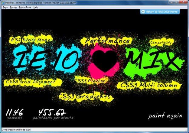 Jeden z pierwszych screenów prezentujących Internet Explorer 10 /materiały prasowe