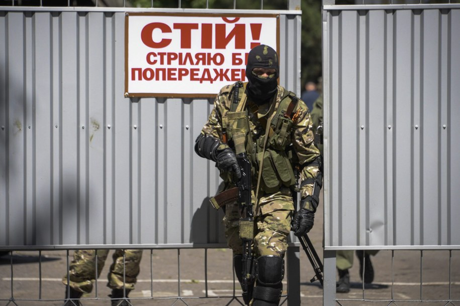 Jeden z prorosyjskich separatystów /STRINGER /PAP/EPA