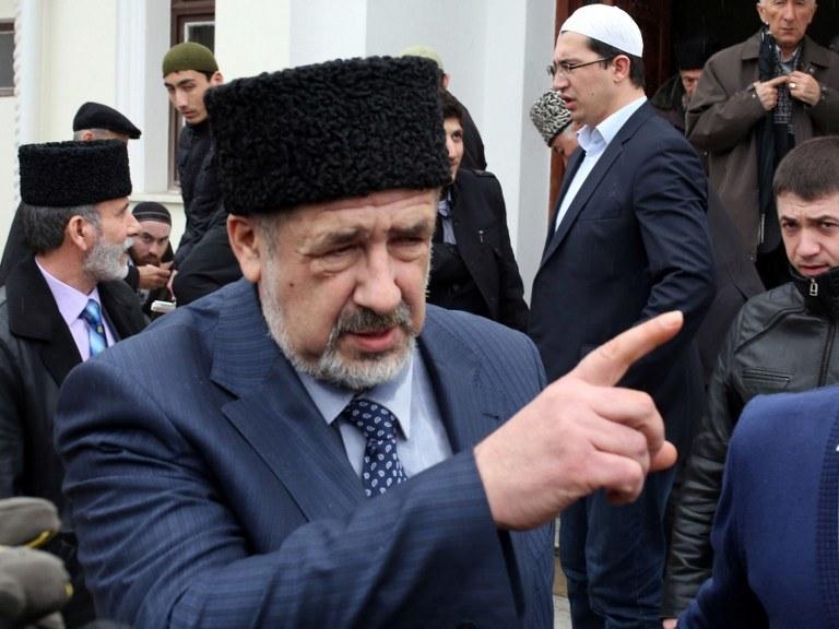 Jeden z przywódców Tatarów krymskich Refat Czubarow /VOLODYMYR PETROV / AFP /AFP