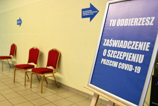 Jeden z punktów szczepień przeciwko Covid-19 w Rzeszowie /Darek Delmanowicz /PAP