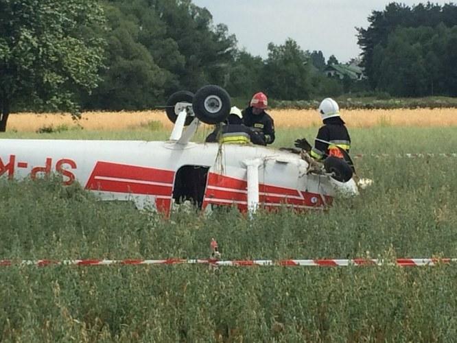 Jeden z samolotów, które zderzyły się koło Radomia /Gorąca Linia RMF FM, pan Kamil /RMF FM