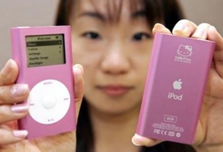 Jeden z wielu gadżetów do iPoda - obudowa w stylu Hello Kitty /AFP