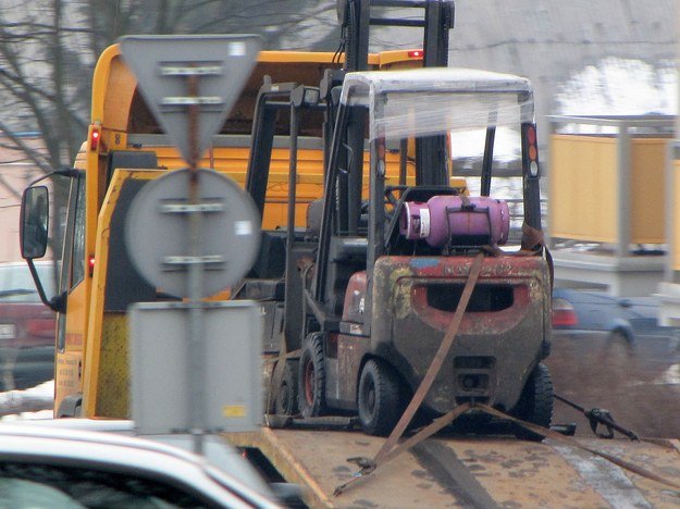 Jeden z wózków widłowych, które mogły być przyczyną wypadku /Dariusz Proniewicz /RMF FM