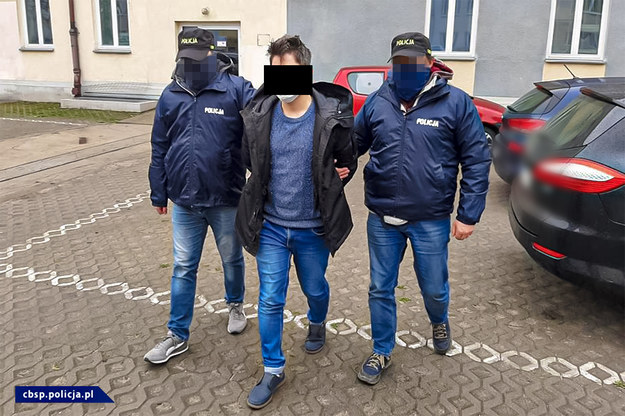 Jeden z zatrzymanych mężczyzn /Policja /
