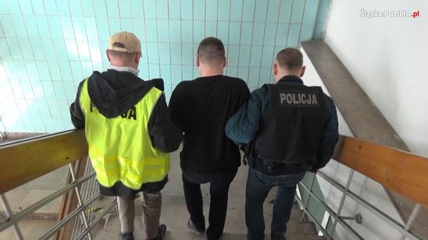 Jeden z zatrzymanych w policyjnych operacjach /slaska.policja.gov.pl /Policja