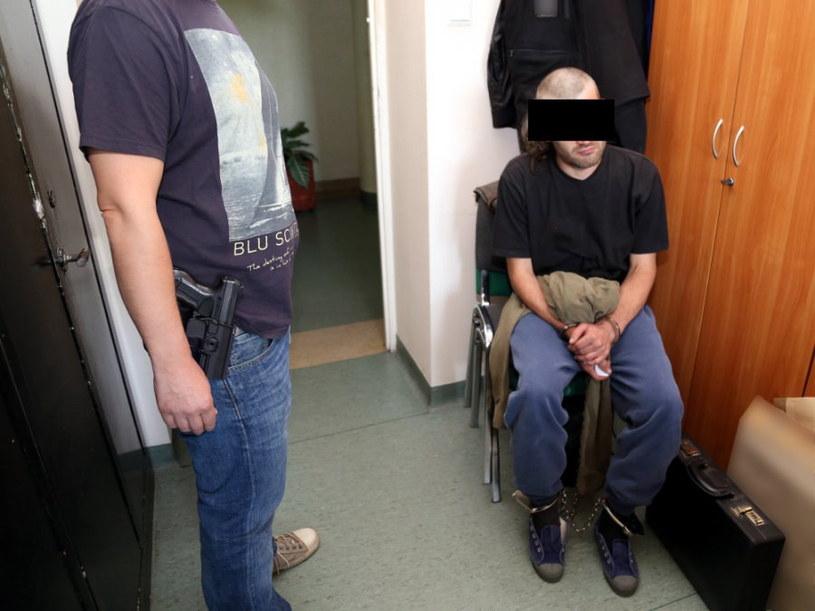Jeden z zatrzymanych /Policja /PAP