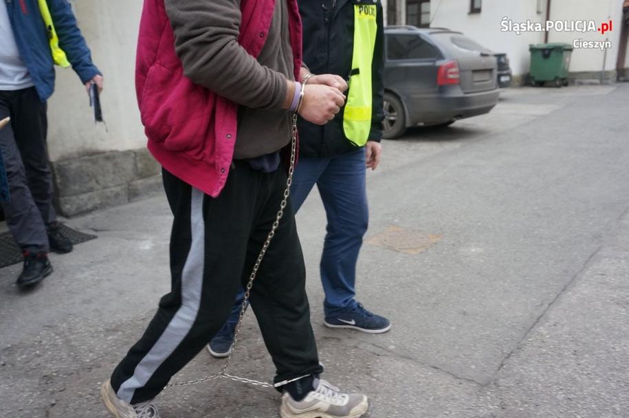 Jeden z zatrzymanych /Policja