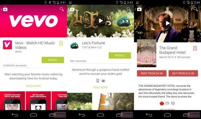 Jeden ze screenów z nowego Google Play, do których dotarł serwis Android Police. /instalki.pl