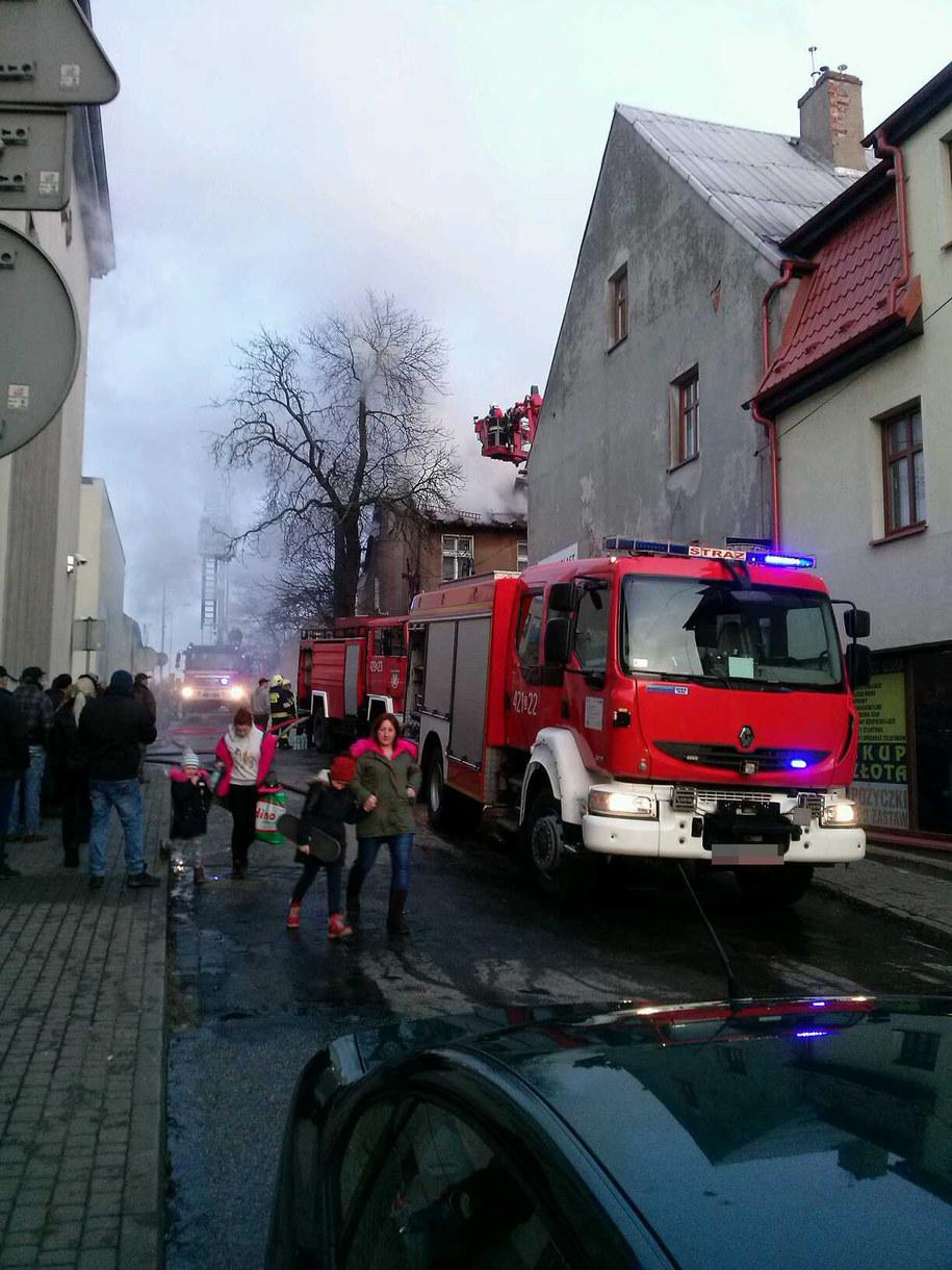 Jeden ze strażaków został ranny /Gorąca Linia RMF FM /Gorąca Linia RMF FM