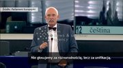 """""""Jedna Rzesza, jeden naród jeden bilet"""" Janusz-Korwin-Mikke parafrazuje nazistowskie zawołanie"""
