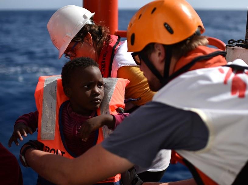 Jedna z akcji ratunkowych na Lampedusie /AFP