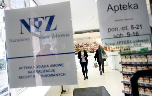 Jedna z aptek w Warszawie/fot. M. Dyjuk /Reporter