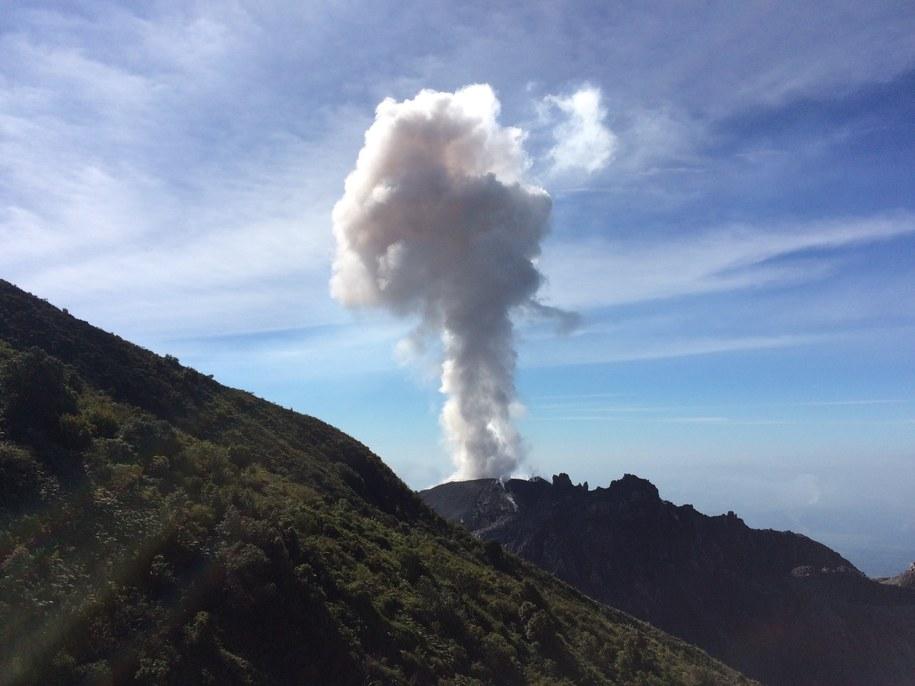 Jedna z erupcji krateru Santiaguito wulkanu Santa Maria w Gwatemali /Benjamin Esse, The University of Manchester /Materiały prasowe