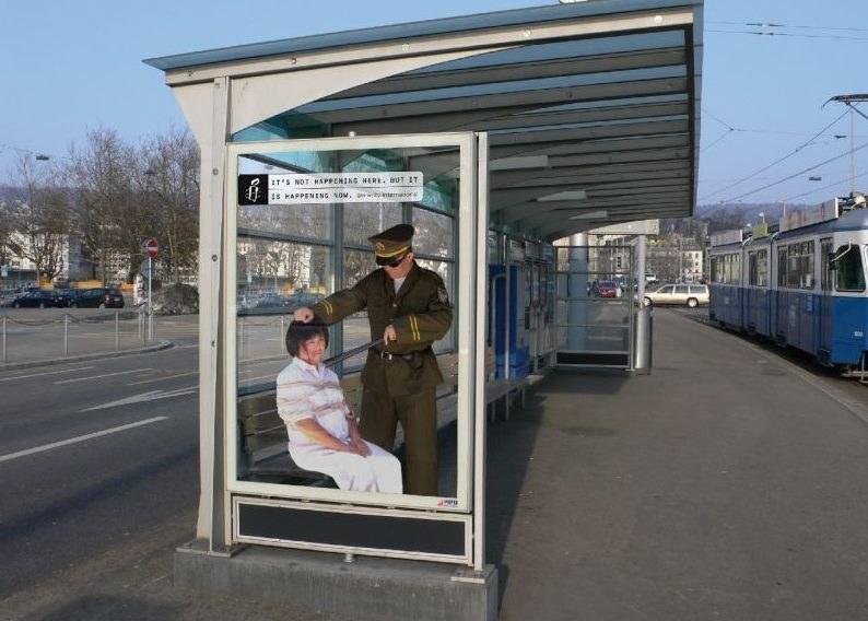 Jedna z fotografii pokazana w Szwajcarii w ramach kampanii Amnesty International /radiosarajevo.ba /Sztukatulka.pl