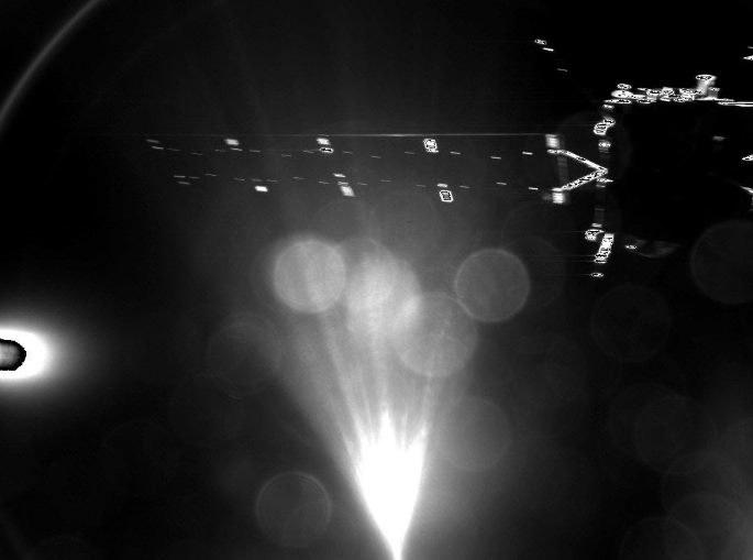 Jedna z fotografii wysłanych po odzieleniu się lądownika.  Fot. ESA/Rosetta/Philae/CIVA /materiały prasowe