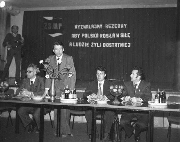 Jedna z konferencji Związku Socjalistycznej Młodzieży Polskiej /Z archiwum Narodowego Archiwum Cyfrowego