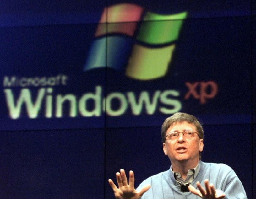 Jedna z pierwszych prezentacji Windowsa XP - rok 2001 /AFP