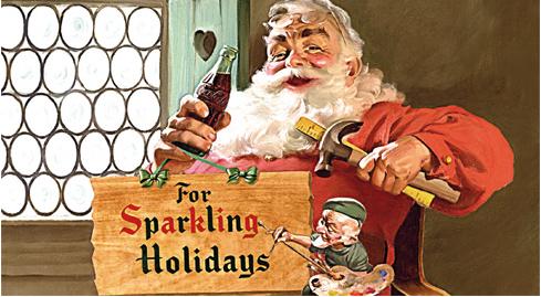 Jedna z pierwszych reklam Coca-coli z wizerunkiem św. Mikołaja /źródło: www.cocacola.com.pl /Internet