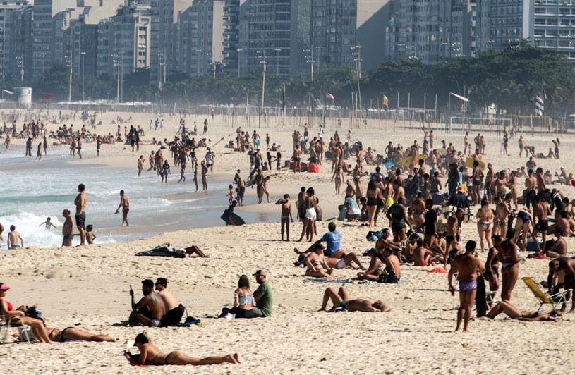 Jedna z plaż w Rio de Janeiro (20.06.2020) /Antonio Lacerda /PAP/EPA