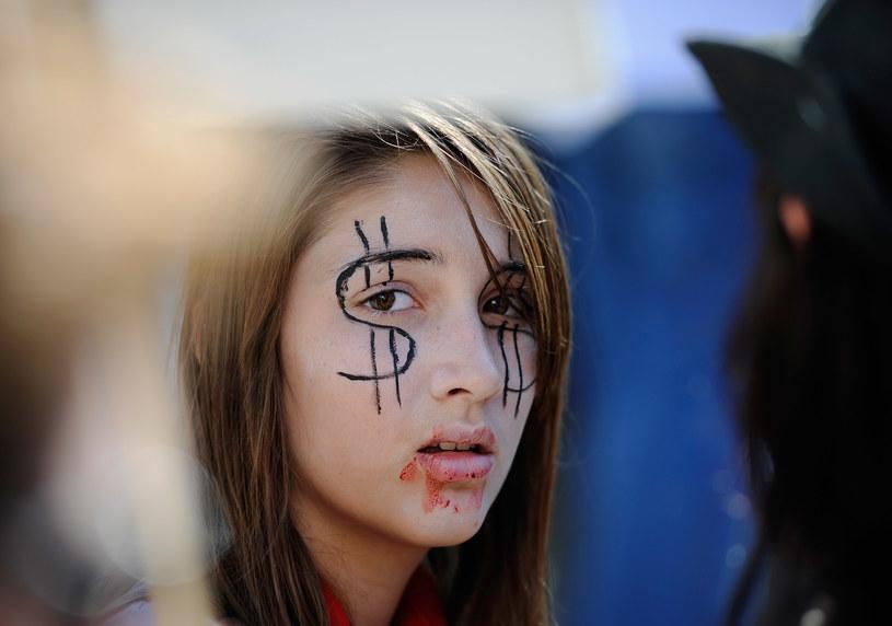 """Jedna z protestujących w ramach ruchu """"Occupy Wall Street"""" /AFP"""