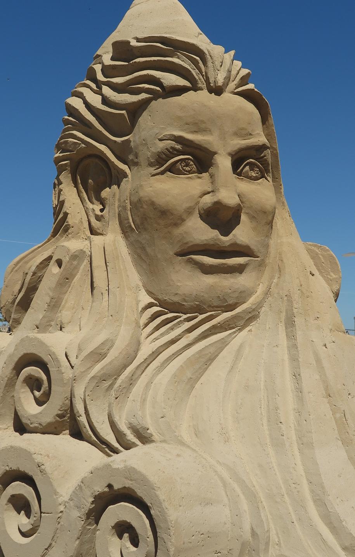 Jedna z rzeźb z piachu, którą można zobaczyć w czasie Dni Morza w Szczecinie /Aneta Łuczkowska /RMF FM