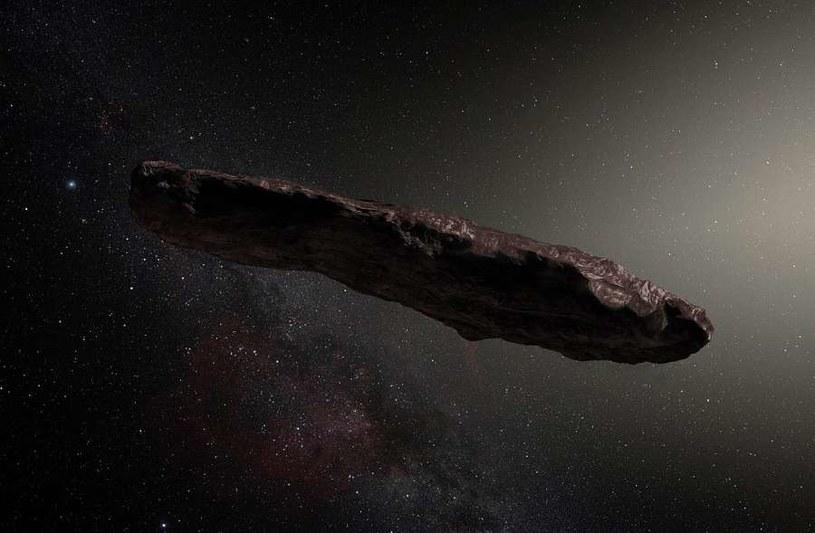 Jedna z wizji artystycznych asteroidy Oumuamua /materiały prasowe