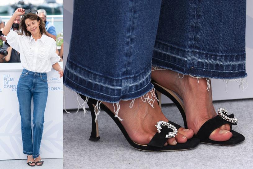 Jedna ze stylizacji Sophie Marceau podczas Festiwalu Filmowego w Cannes /Getty Images