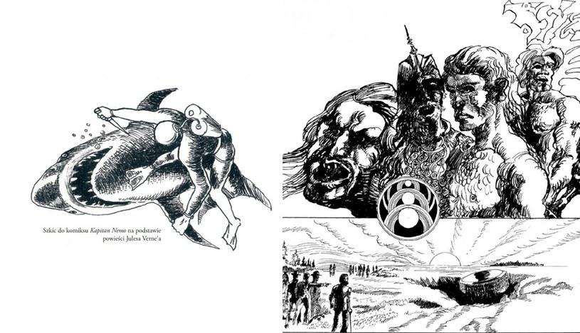 Jedne ze szkiców umieszczonych w albumie /materiały prasowe