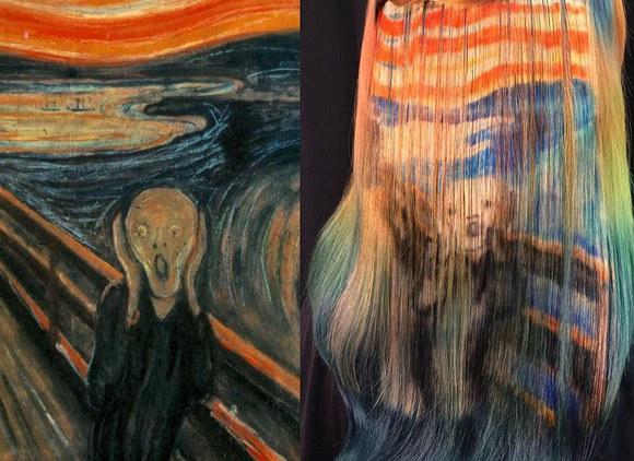 """Jedno z dzieł Ursuli Goff - """"Krzyk"""" Edwarda Muncha /Instagram@uggof  /INTERIA.PL"""