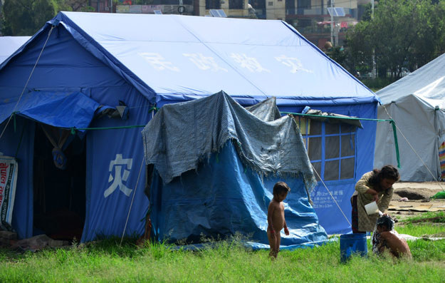 Jedno z obozowisk w Nepalu /PRAKASH MATHEMA /AFP