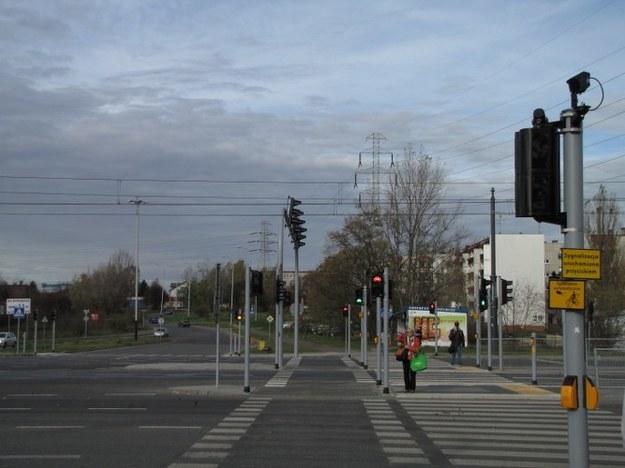 Jedno ze skrzyżowań, na których zamontowany jest rowerowy fotoradar /Agnieszka Wyderka /RMF FM