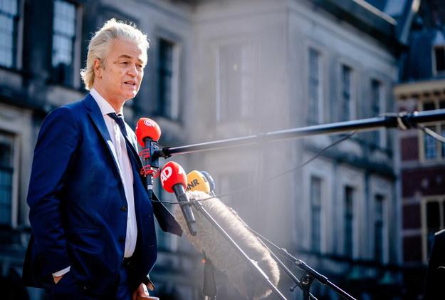 Jednym z oszukanych jest przywódca populistycznej Partii na Rzecz Wolności Geert Wilders /BART MAAT /PAP