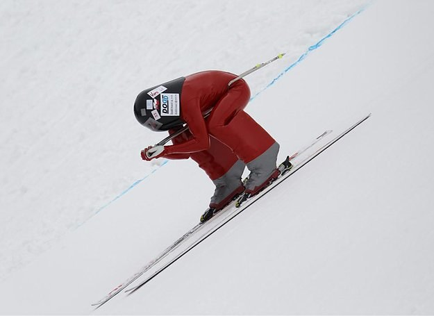 Jędrzej Dobrowolski pędzi podczas Finału Pucharu Świata Speed Ski 2010 /fot. Jędrzej Dobrowolski /