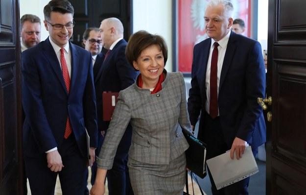 Jedyna kobieta w rządzie Mateusza Morawieckiego, minister rodziny Marlena Maląg / Leszek Szymański    /PAP