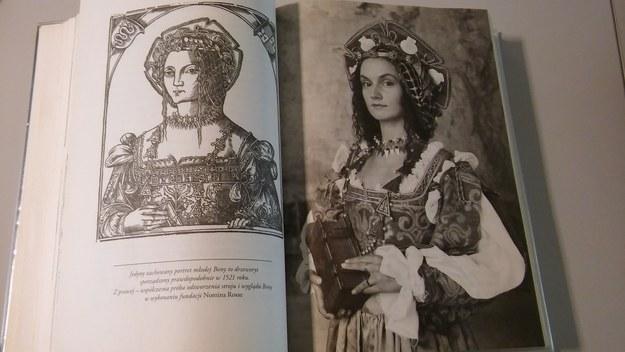 Jedyny zachowany portret młodej Bony (po lewej) i współczesna próba odtworzenia jej wyglądu (po prawej) /RMF FM
