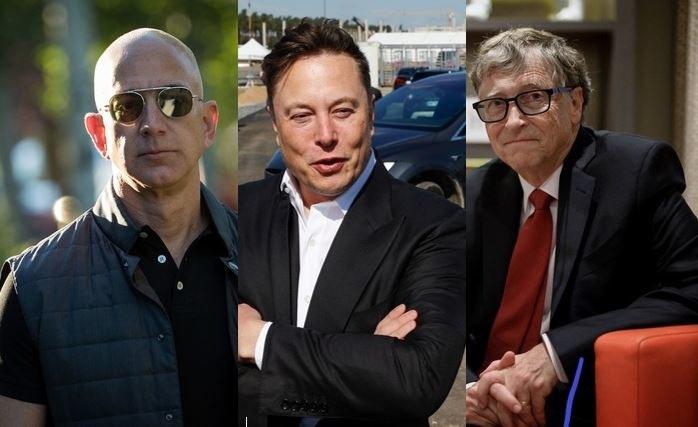Jeff Bezos, Elon Musk, Bill Gates /AFP