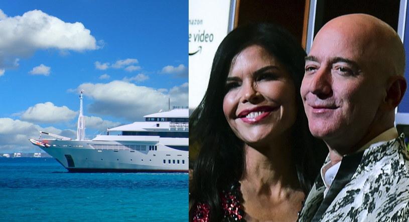 Jeff Bezos, po rozstaniu z żoną, związał się z Lauren Sanchez - po rezygnacji z funkcji szefa Amazonu skupi się na działalności filantropijnej, firmie kosmicznej Blue Origin i podróżach swoim superjachtem /AFP